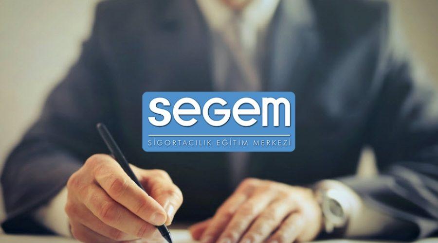 SEGEM Sigorta ve Reasürans Brokerleri Teknik Personel Yeterlilik Sınavı