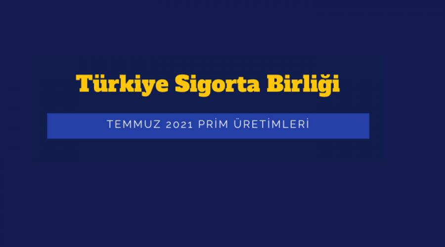 Türkiye Sigorta Birliği (TSB) Temmuz 2021 Prim Üretimleri